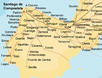 küste spanien landkarte
