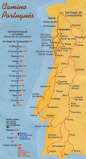 Camino Portugues Karte.Wir Pilgern Auf Dem Jakobusweg